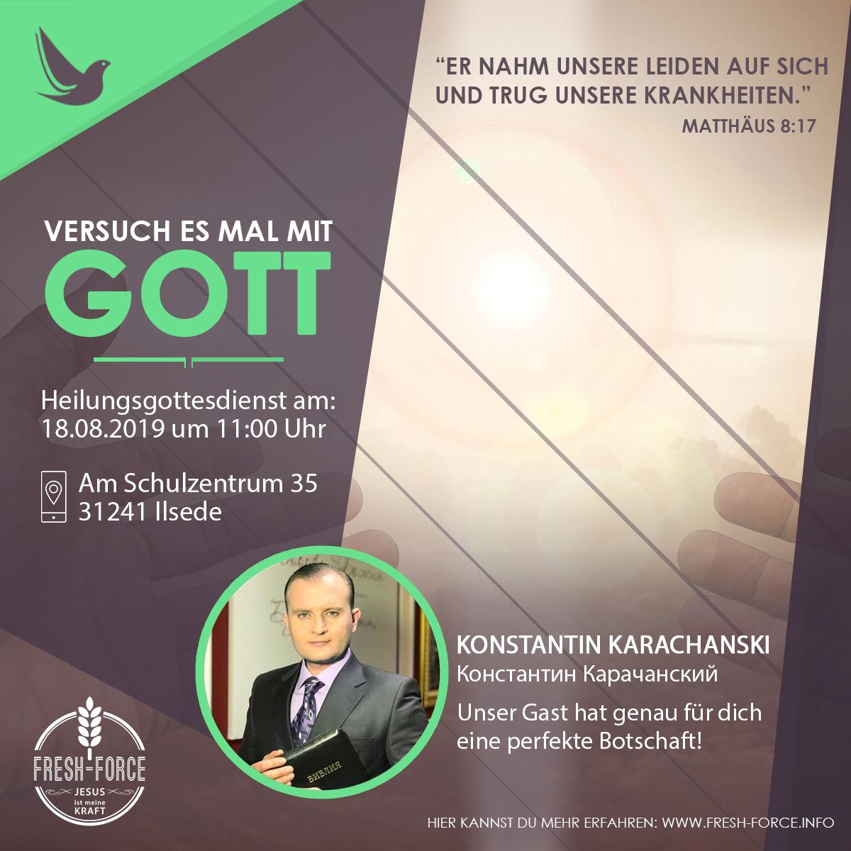 Heilungsgottesdienst am 18.08.2019